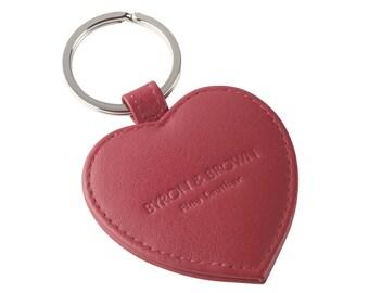 Small Heart Keyring Nappa Leather