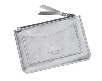 Leather metallic medium coin purse