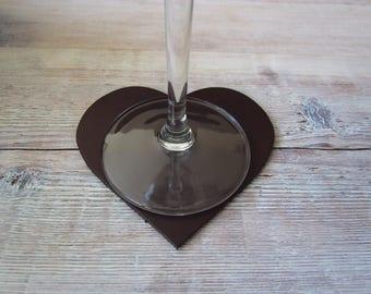 Heart Chocolate Coaster Box of 6