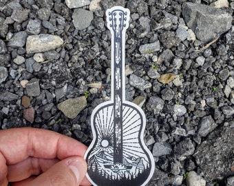 Guitar sticker decal Hippy Peace sign violin electric guitar ukulele designs