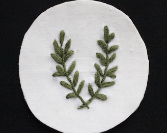 Rosemary Hand Embroidered Patch