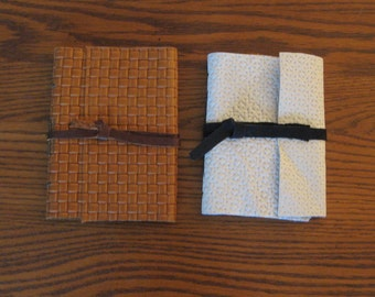 Small Handmade Basket-Weave Journals