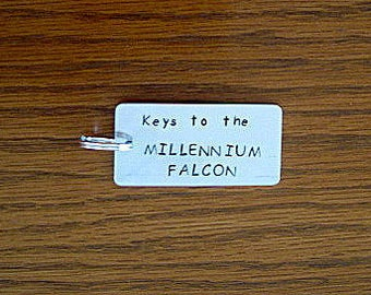 Star Wars Inspired Millenium Falcon Aluminum Key Chain