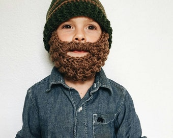 Bearded Bobble Beanie (baby - adult )