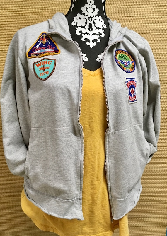 Women's 1950s, 60s and 70s Vintage Patched Hoodie