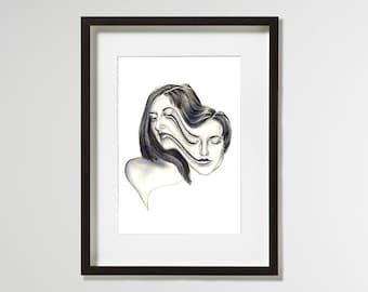 A4 Fine Art Print 'Transfiguration' – Limited Edition of 10 - contemporary surrealist portrait