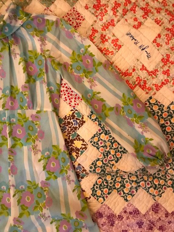 Vintage 70s Handmade Palazzo Pant Jumpsuit Floral… - image 4