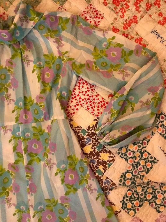 Vintage 70s Handmade Palazzo Pant Jumpsuit Floral… - image 3