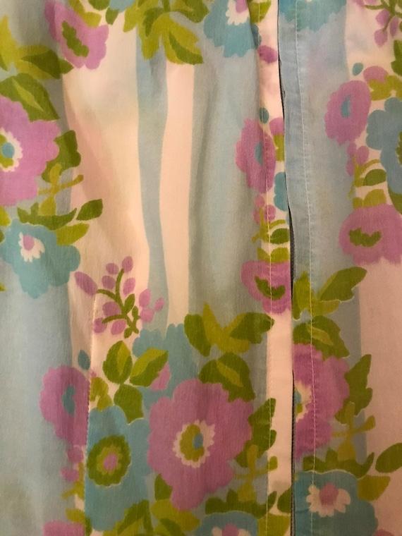 Vintage 70s Handmade Palazzo Pant Jumpsuit Floral… - image 6