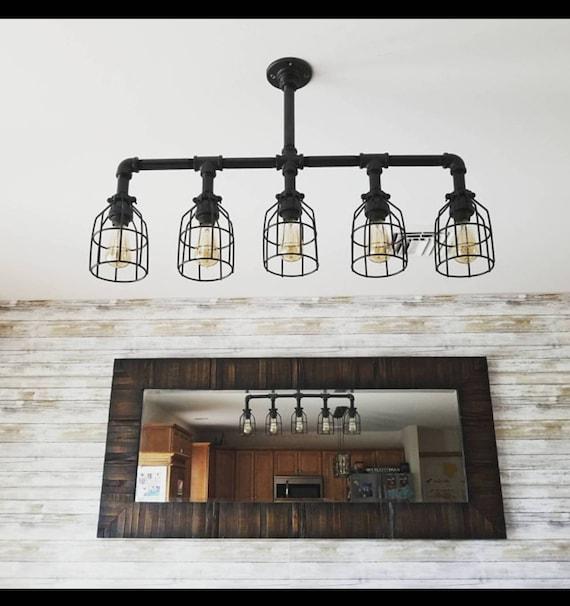 Industrial Lighting Rustic Kitchen Island Ceiling Light- UL LISTED!! Modern  Industrial Edison Bulb Kitchen Chandelier- Farmhouse Lighting