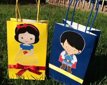 Snow White   Or Seven  dearfs favors bag, Candy bag set of  12 PIECES