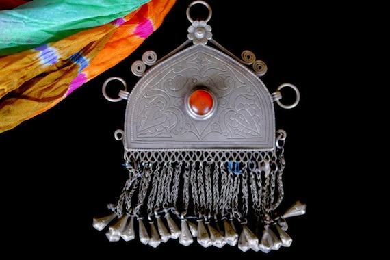 Vintage Tribal Pendant from Afghanistan Hazara #4978