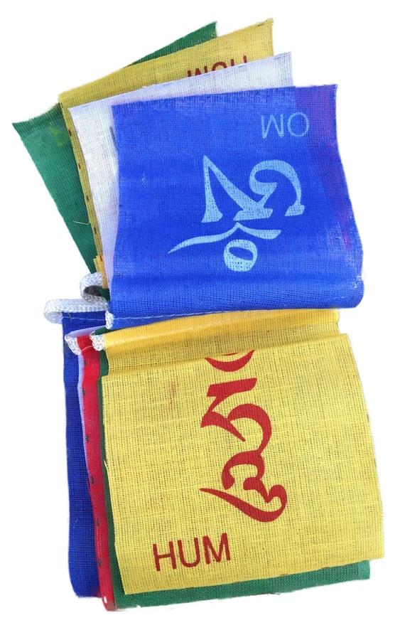 10 Om Mani Padme Hum Prayer Flags 6 Realms Cotton Tibetan Etsy
