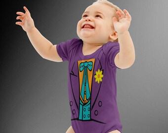 The Joker Costume Bodysuit | Batman | Halloween Costumes | Kids Cosplay | Joker | DC Comics | Costume Romper | Baby Shower Gift  sc 1 st  Etsy & Baby joker | Etsy