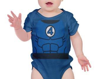 Mr. Fantastic Fantastic Four Inspired Costume Romper | Halloween Costume | Kids Cosplay | Funny baby Romper | Baby Shower Gift | Marvel  sc 1 st  Etsy & Fantastic four | Etsy