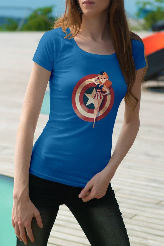 71263f826 75th Anniversary Inspired Pin Up Captain America Inspired   Etsy