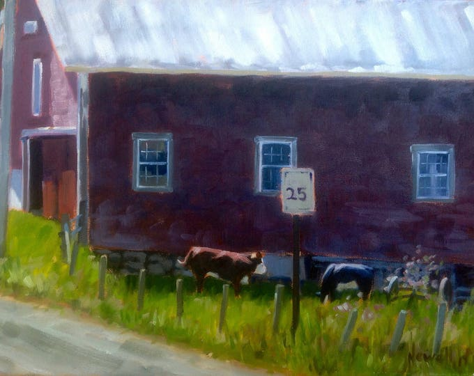 Featured listing image: Cows in Front of Barn