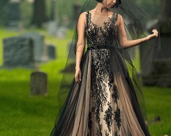 Goth wedding dress, Ravyn Gown By Dani Simone