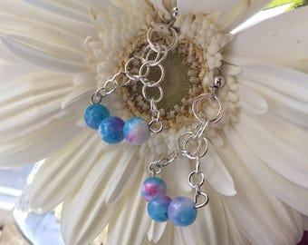 Natural Stone Chainmail Earrings