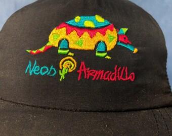 c4d5db653c86d Vintage Walt Disney World Pleasure Island Neon Armadillo Baseball Cap