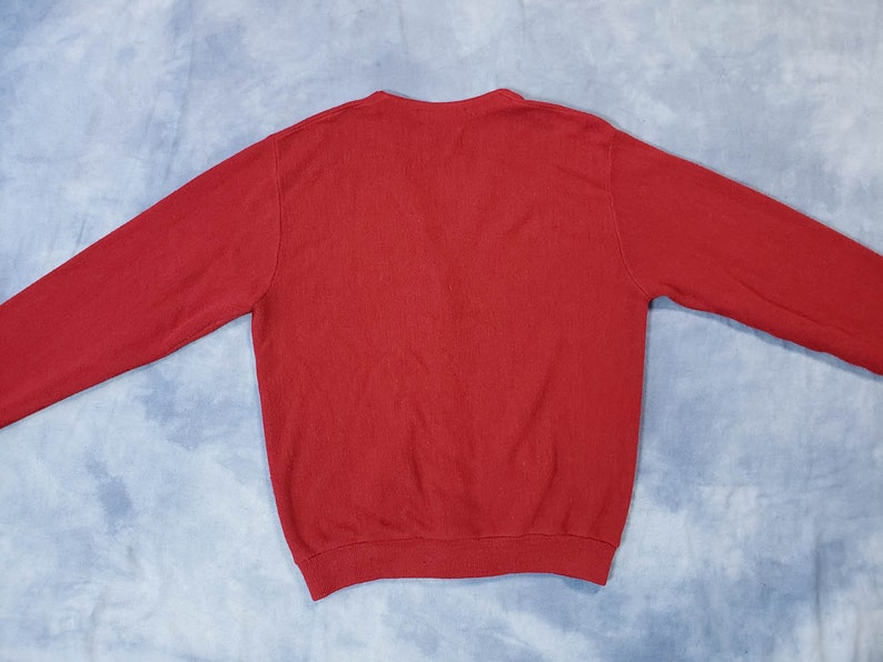 Vintage IZOD Lacoste Cardigan Sweater  Red 70s 80s Preppy