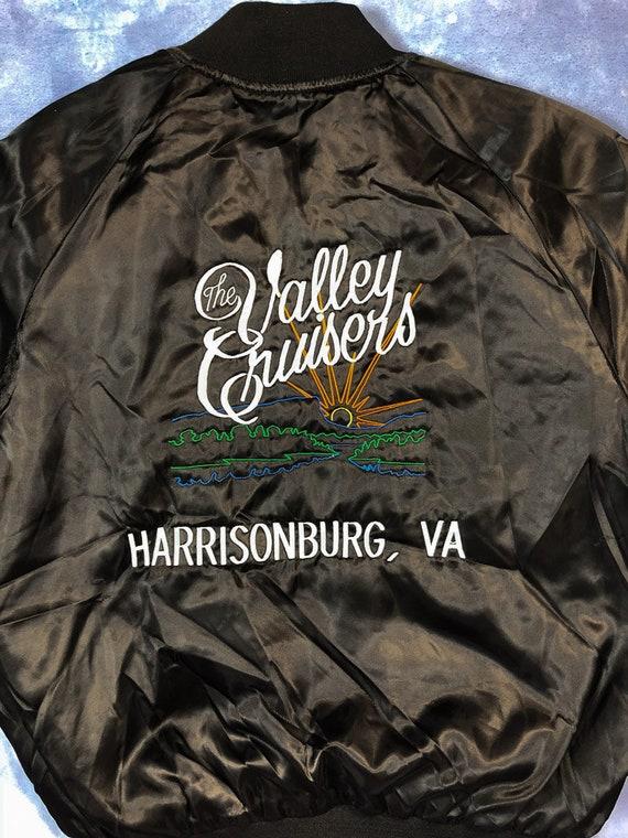 Vintage Harrisonburg Virginia Silky Bomber Jacket