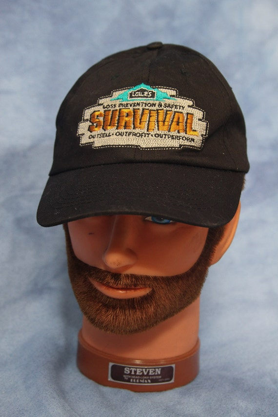 Lowes Survival Hat // Black Baseball Cap Adjustable // Loss Prevention and  Safety // Novelty