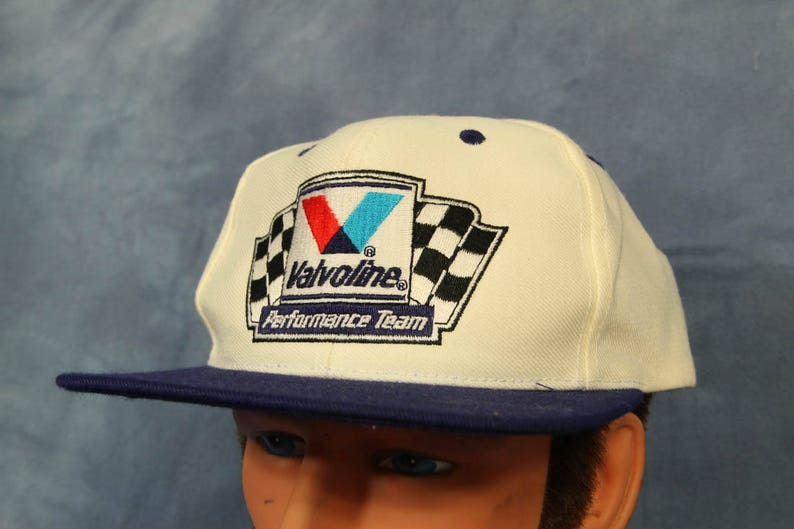 a46bf7c38 Vintage Valvoline Racing Performance Team Hat Embroidered Snap Back
