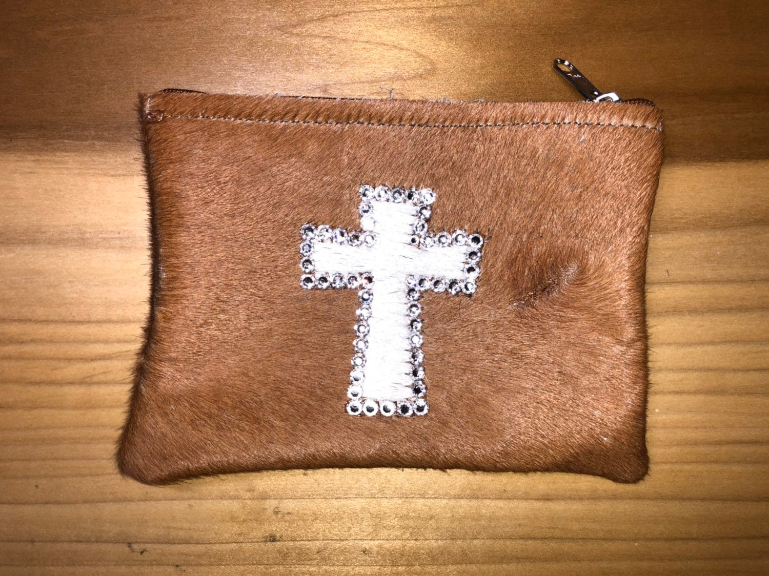 336b31425 Fur Cross Cosmetic Bag with Swarovski Crystals - Gifts Under 30 ...