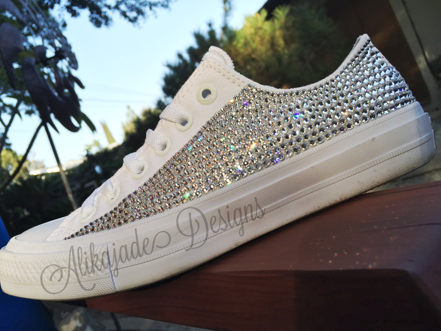 eec4abb31bf9bb Swarovski Crystal Converse Chuck- Wedding Converse- Crystal Converse - Gift  for Her- Bridesmaid Shoe. gallery photo ...