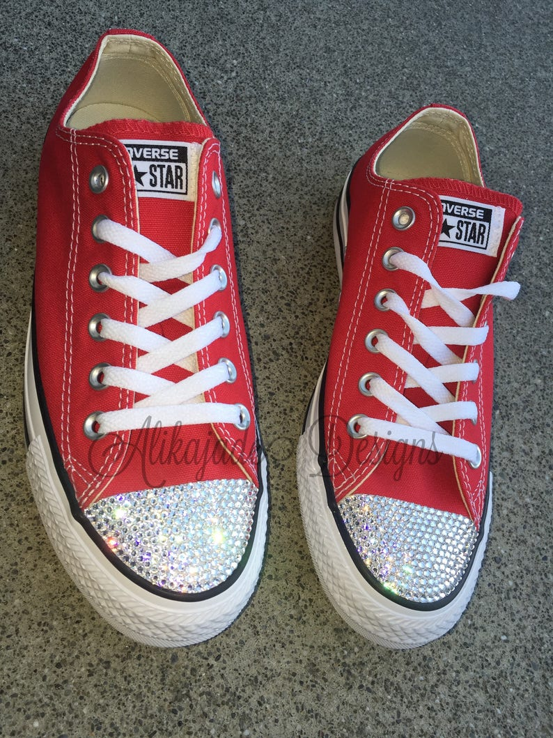 0e97a5c9896030 Swarovski Crystal Red Converse Crystal Converse Gift for