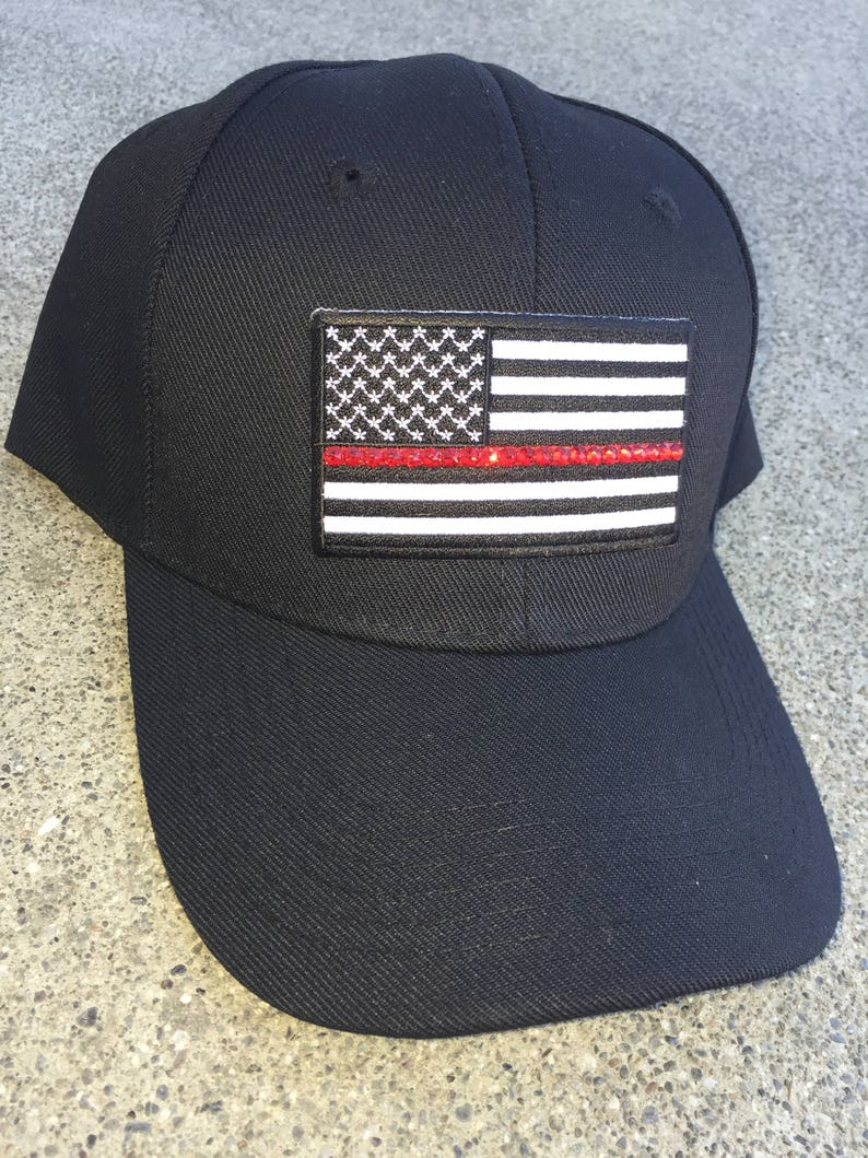 66af745cefe3b Thin Red Line Flag Bling Baseball Cap Thin Red Line Womens