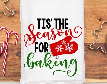 Tis' The Season For Baking Svg, Christmas Cookies Svg, Holiday Baking Svg, Christmas Baking Svg, Pot Holder Svg, Kitchen Svg, Svg, Eps, Dxf