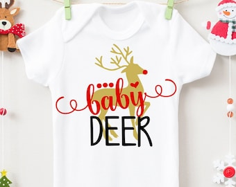 Baby Deer SVG, DXF, EPS, png Files for Cutting Machines Cameo or Cricut - Rudolph Svg, Reindeer Svg, Christmas Svg, Newborn Svg, Baby Svg