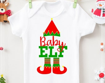 Baby Elf SVG, DXF, EPS, png Files for Cutting Machines Cameo or Cricut - Christmas Svg, Santa Svg, Elf Shirt, Ugly Sweater Svg
