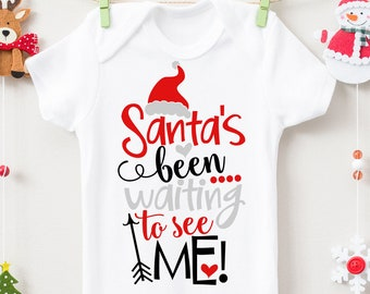 Santa's Been Waiting To See Me SVG, DXF, EPS, png Files for Cutting Machines Cameo or Cricut - Santa Svg, Christmas Svg, 1st Christmas Svg