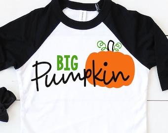 Big Pumpkin Svg - Halloween SVG, DXF, EPS, Png, Pumpkin Svg, Siblings Svg, Fall Svg, Pumpkin Patch Svg