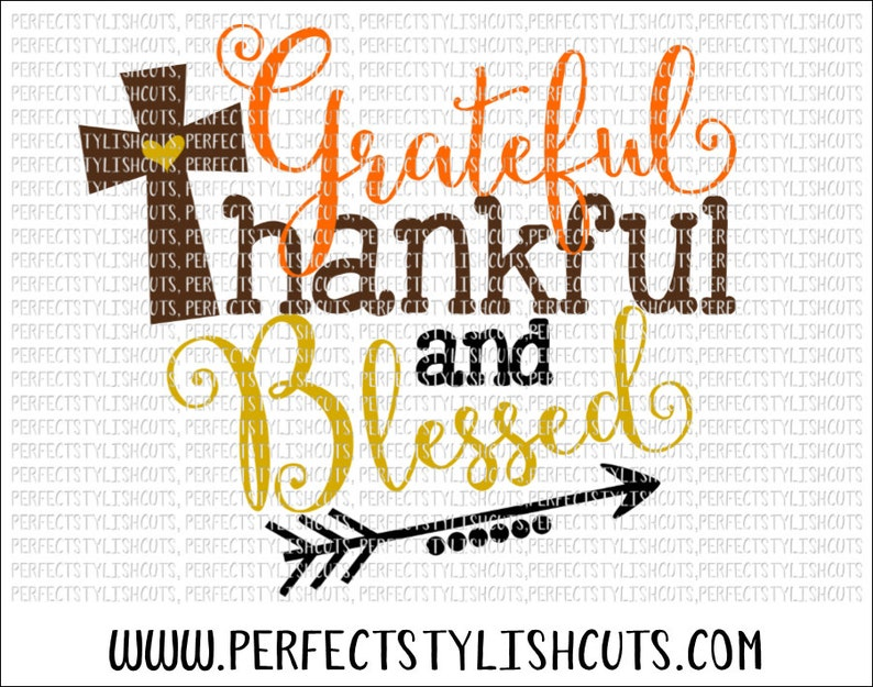 Fall Svg Grateful Thankful Blessed SVG DXF EPS png Files image 0