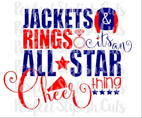 All Star Cheer Svg Dxf Eps Png Files For Cutting Machines Etsy