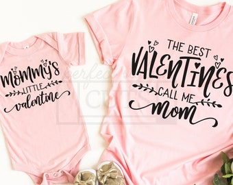 Valentine's Day Mommy and Me SVG, Valentines Day Svg Files for Cricut and Silhouette Cameo, PNG, SVG, Dxf files included