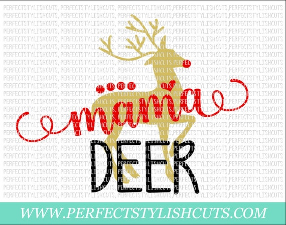 Mama Deer Svg Dxf Eps Png Files For Cutting Machines Cameo Etsy