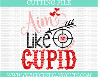 Aim Like Cupid - Toilet Paper SVG, DXF, EPS, png Files for Cutting Machines Cameo or Cricut - Poop Svg, Valentine's Day Svg, Cupid Svg