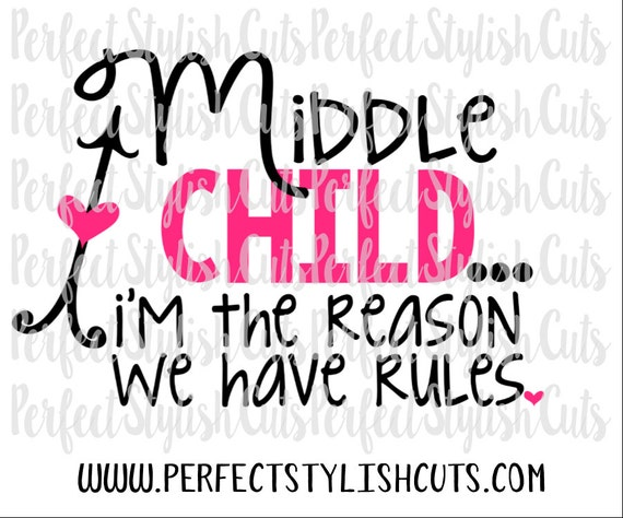 Middle Sister Svg Dxf Eps Png Files For Cutting Machines Etsy