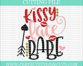 Kissy Face Babe - Valentines Day SVG, DXF, PNG, Eps Files for Cameo or Cricut - Valentine Svg, Girl Valentine Svg, Love Svg