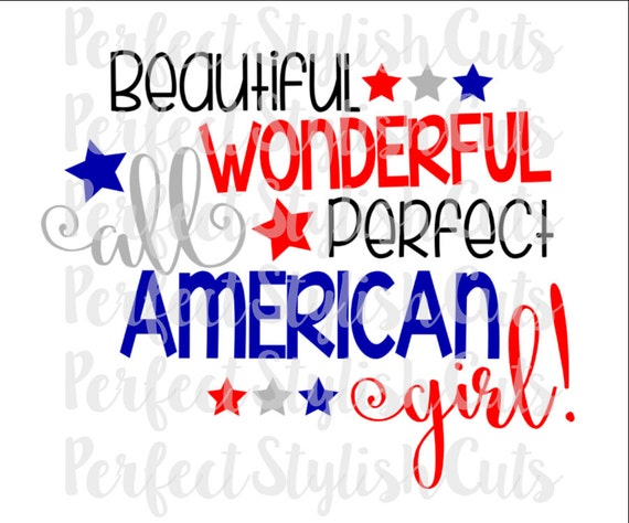 All American Girl Svg Dxf Eps Png Files For Cutting Etsy