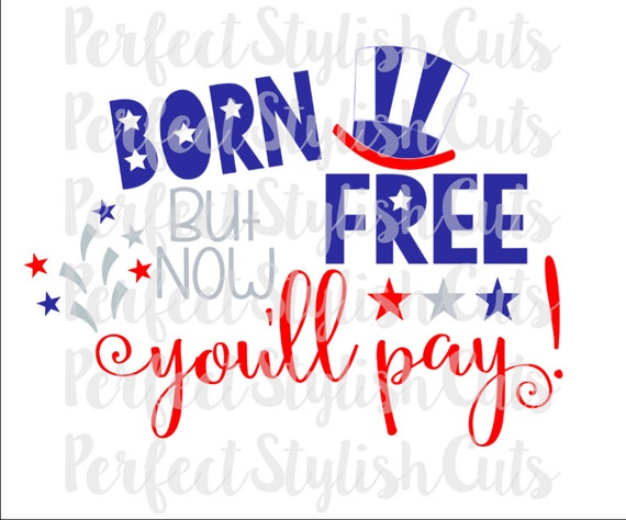 Born Free Svg Dxf Eps Png Files For Cutting Machines Cameo Etsy