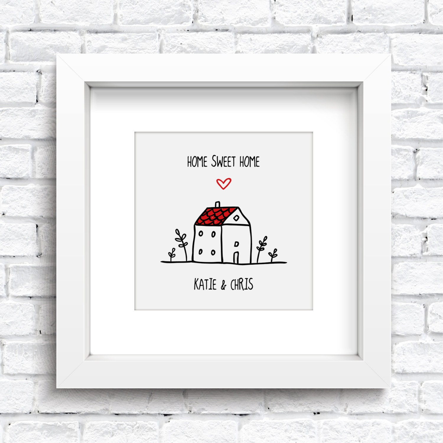 Personalised Home Is Where New Home Gift Print By: Personalised Home Sweet Home Framed Print Keepsake. New