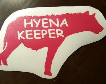 Hyena Keeper Vinyl Decal