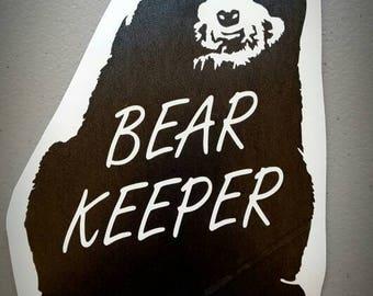 Bear Keeper Spectacled Bear Vinyl Decal