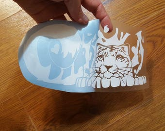 Snow Leopard Vinyl Decal